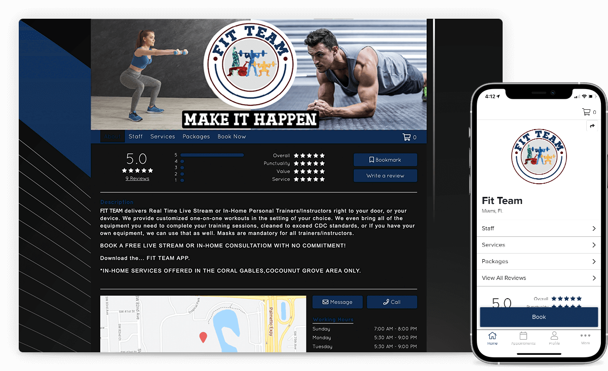 website builder for yoga studios and other fitness studios