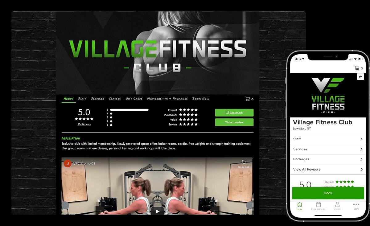 branded app andfitness clubwebsite