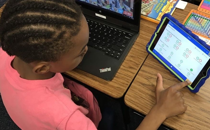 A student using LiveSchool's Points app