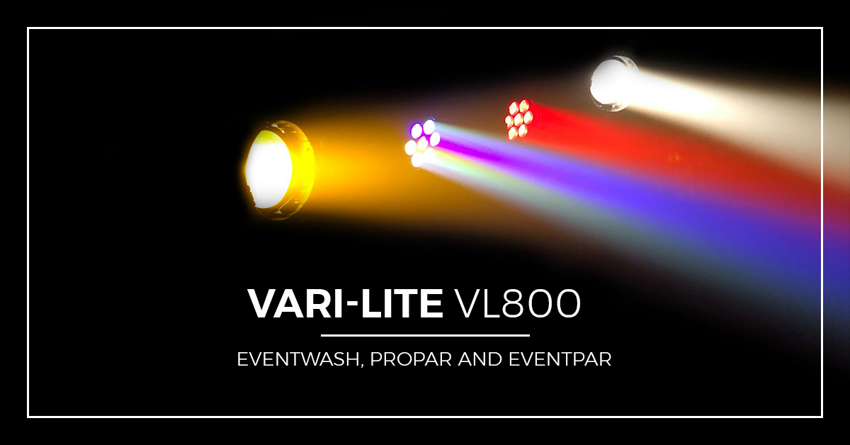 New VL800 series brings Vari-lite power to cost-effective event fixtures