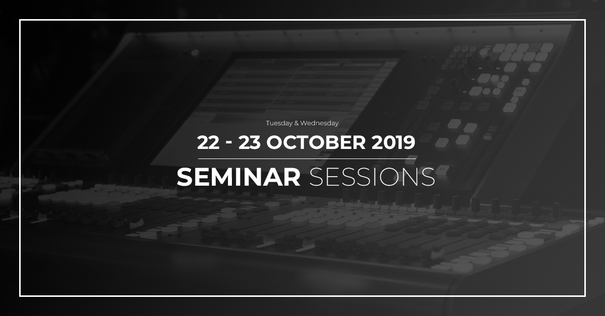 FACE Seminar Sessions: 22 & 23 October 2019