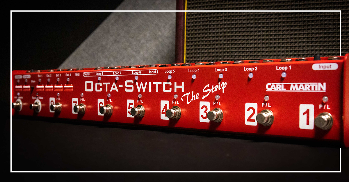 Carl Martin presents the smallest and most advanced Octa-Switch