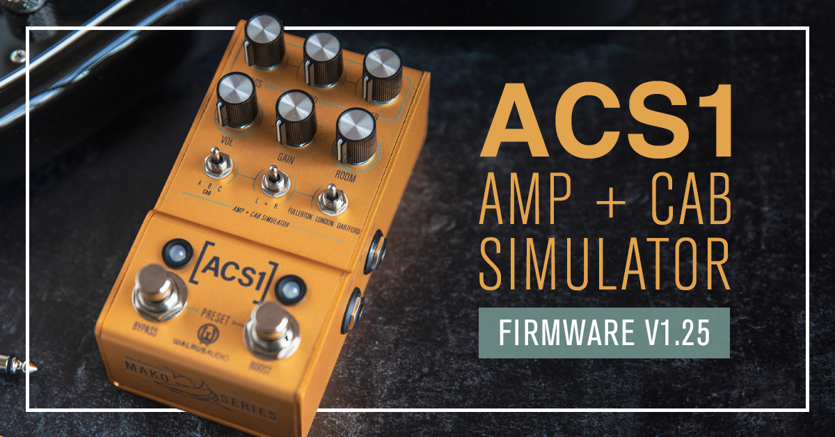 Walrus Audio publishes major firmware update for ACS1