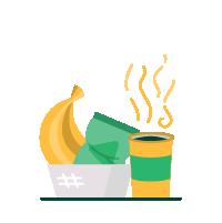 food, snacks and bottomless coffee