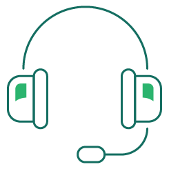 green customer support person