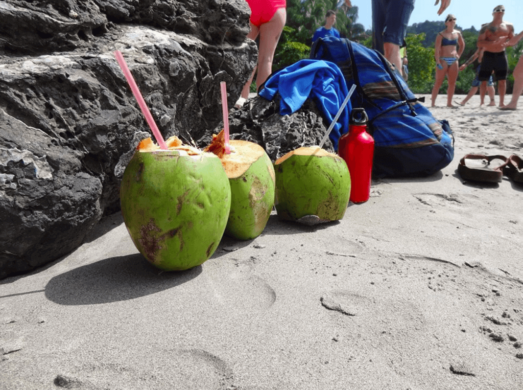 fitness-retreat-costa-rica-ocean-coconut-water