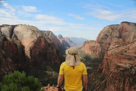 Zion Canyon hiking viewpoint