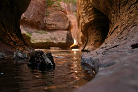 Canyon hiking, Zion national park