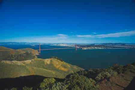 A hiker's viewpoint of Golden Gate Bridge