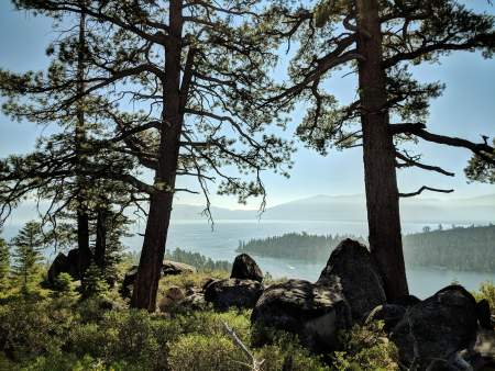 Lake Tahoe, hiking viewpoint