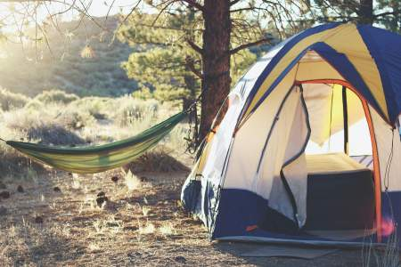 Beginner's Guide to Camping, Campsite with a hammock