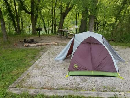 Camping guide, camping on an established campsite