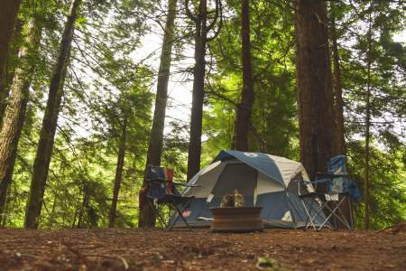 Camping destinations, first camping trip