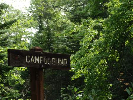 First camping trip destination, campground