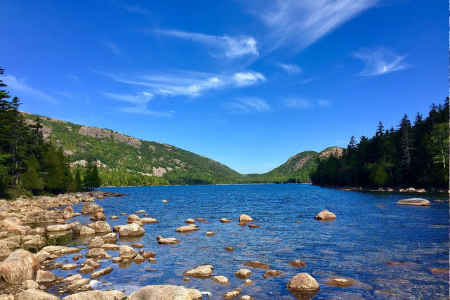 Hiking Johnson Pond in Acadia National Park