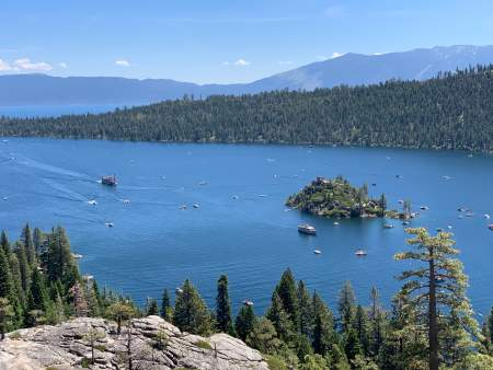 Lake Tahoe, lake vacations, hiking
