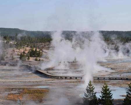 Hiking in Yellowstone National Park