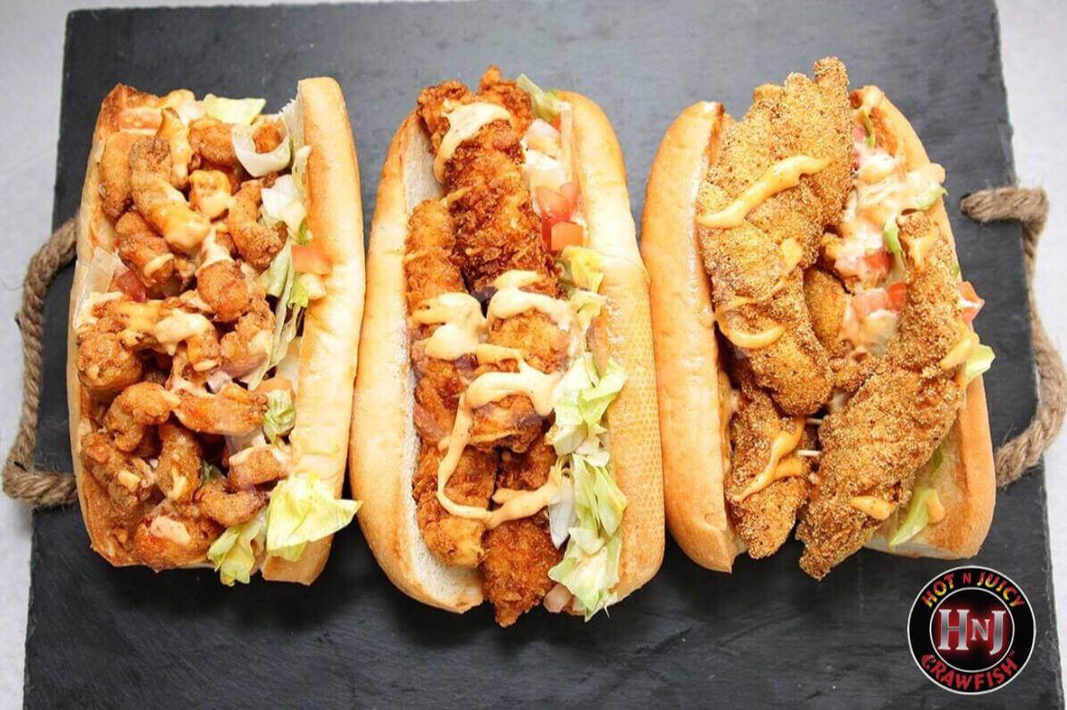 two handed po' boys