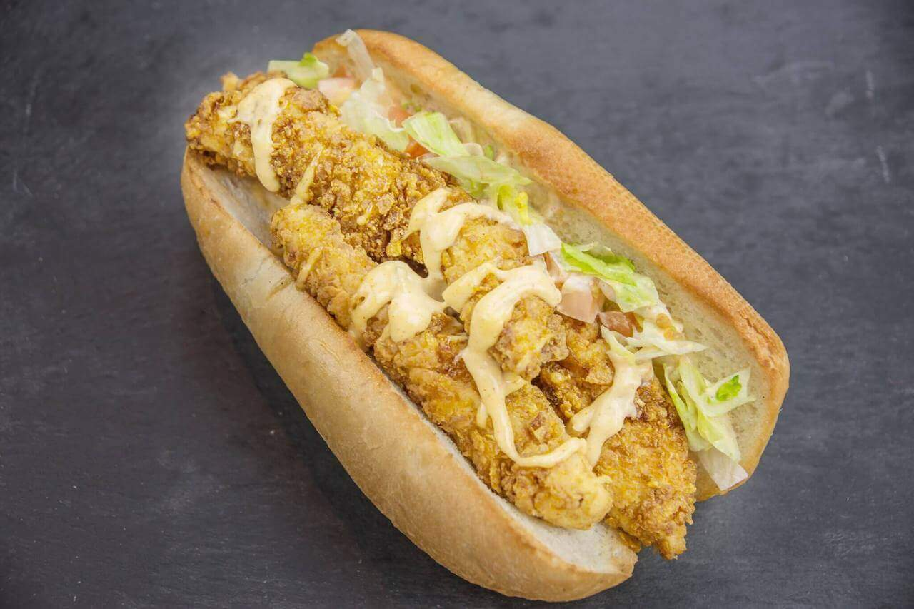 two handed poboys