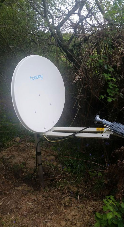 A photo of a Tooway satellite dish