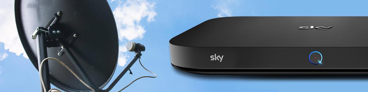 Satellite Dish and Sky Q