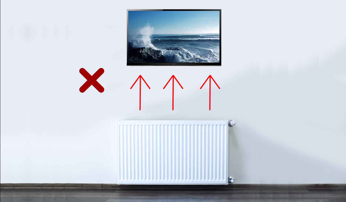 Can I Mount My Tv Above A Radiator
