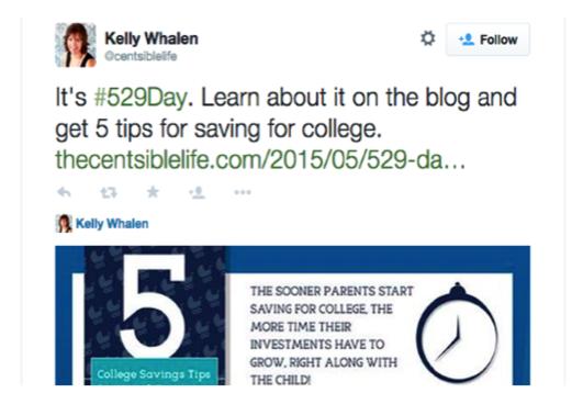 Tweet by Kelly Whalen