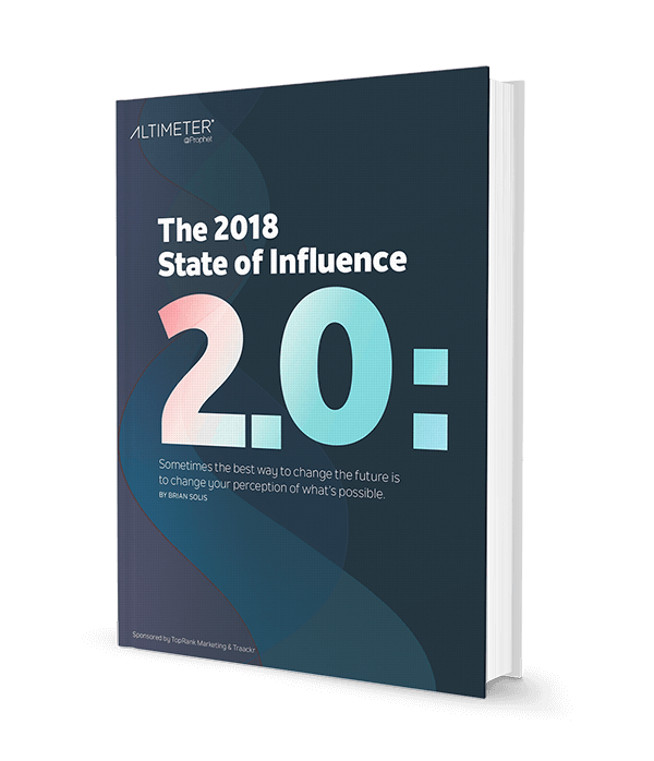 The 2018 State of Influence 2.0: The Path Forward - Book Cover