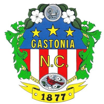 The seal of the city of Gastonia, NC.