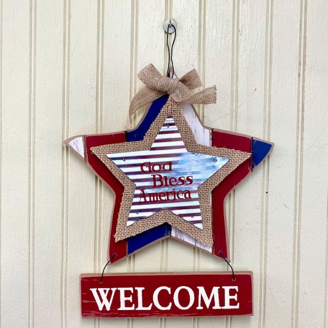 God Bless America Welcome Sign