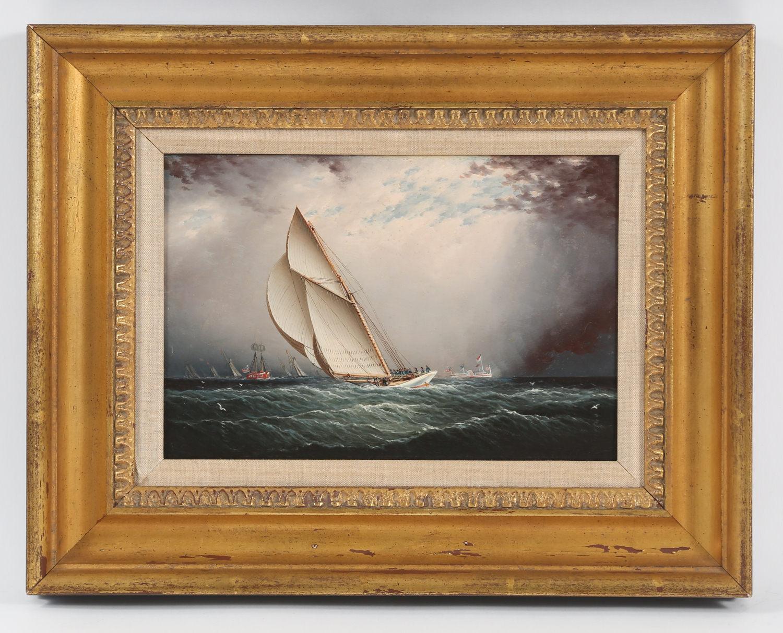James Edward Buttersworth British American 1817-1894 Volunteer, Oil on Panel 1880