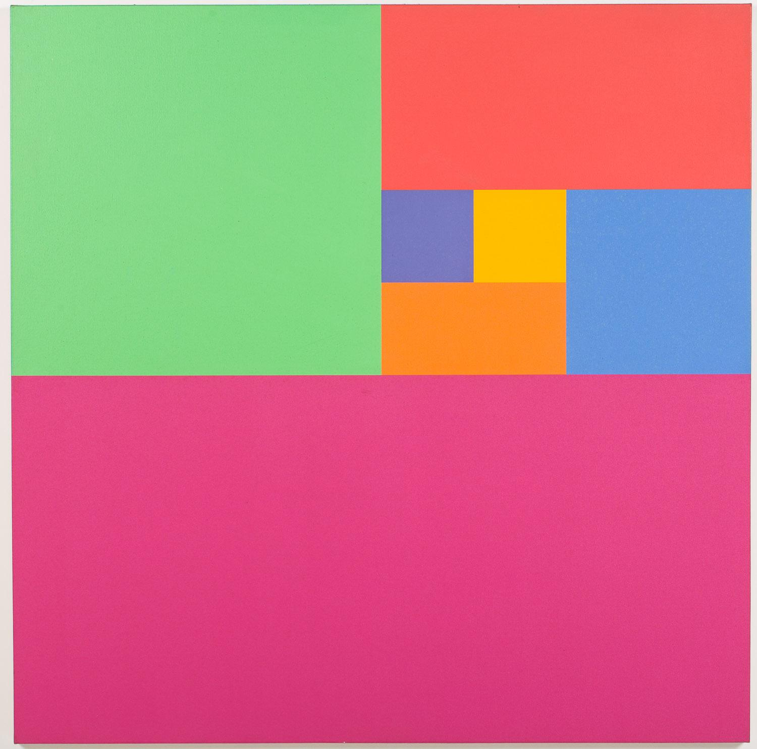 Mario Yrisarry (Philippines/New York, b. 1933), Color Study, Acrylic on Canvas, 1974