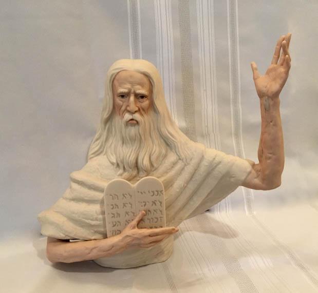 Lot of Six Ispanky Porcelain Figurines Lazlo Ispanky Religious Figurine Moses  David & Juliet,New York Auction House, Houston Auction, Dallas Auction, San Antonio,