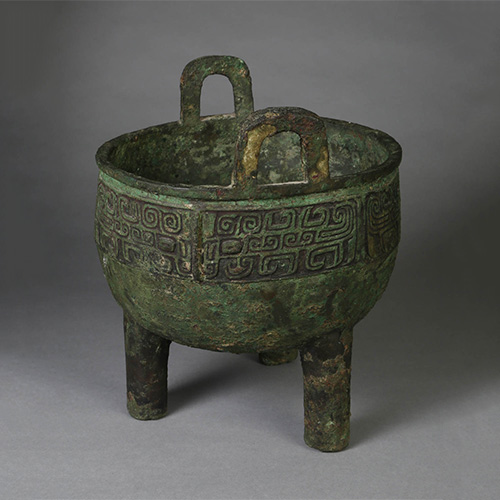 Chinese Archaic Bronze Food Vessel Ding Early Western Zhou Dynasty Asian Art, New York Auction House, Houston Auction, Dallas Auction, San Antonio Auction New York Auction House, Houston Auction, Dallas Auction, San Antonio, Chinese Auciton, 中国艺术拍卖, 青铜, 鼎