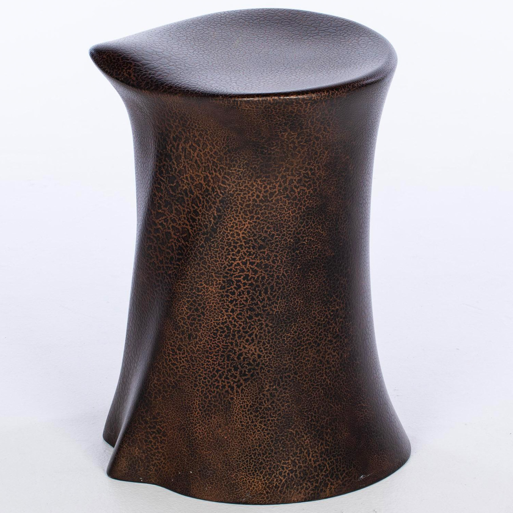 A rare Wendell Castle stump-form fiberglass stool, signed and numbered 69/04,1969
