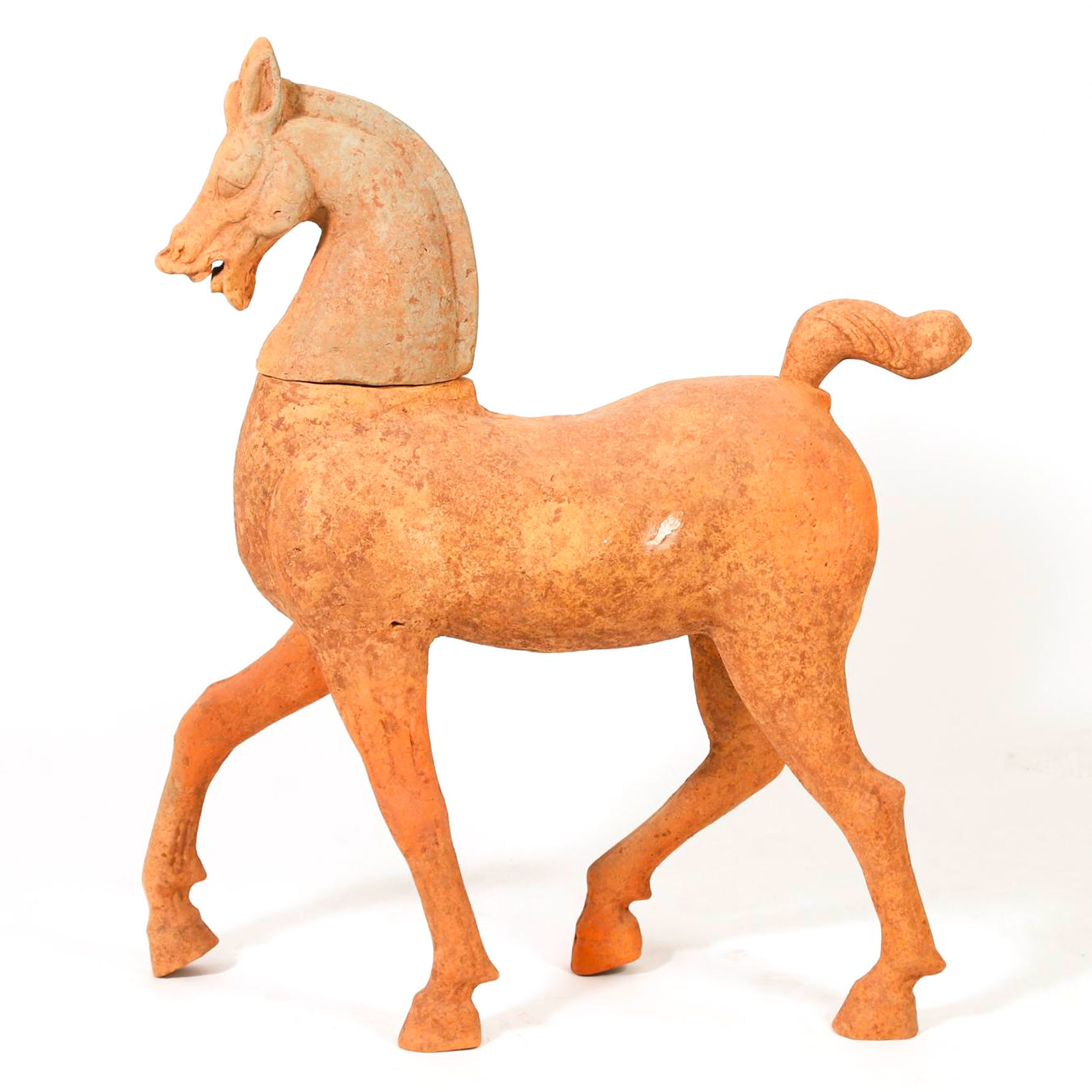Large Chinese Pottery Walking Horse, Sichuan Province, Han Dynasty