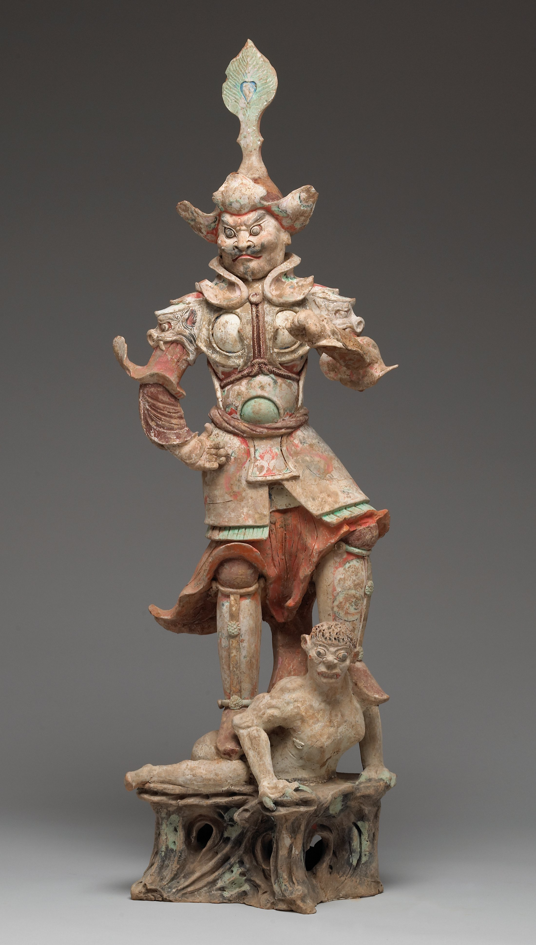 Lokapala Guardian King, one of a pair, late 7th-early 8th century