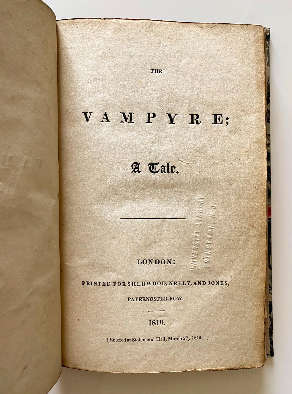 The Vampyre, John Polidori