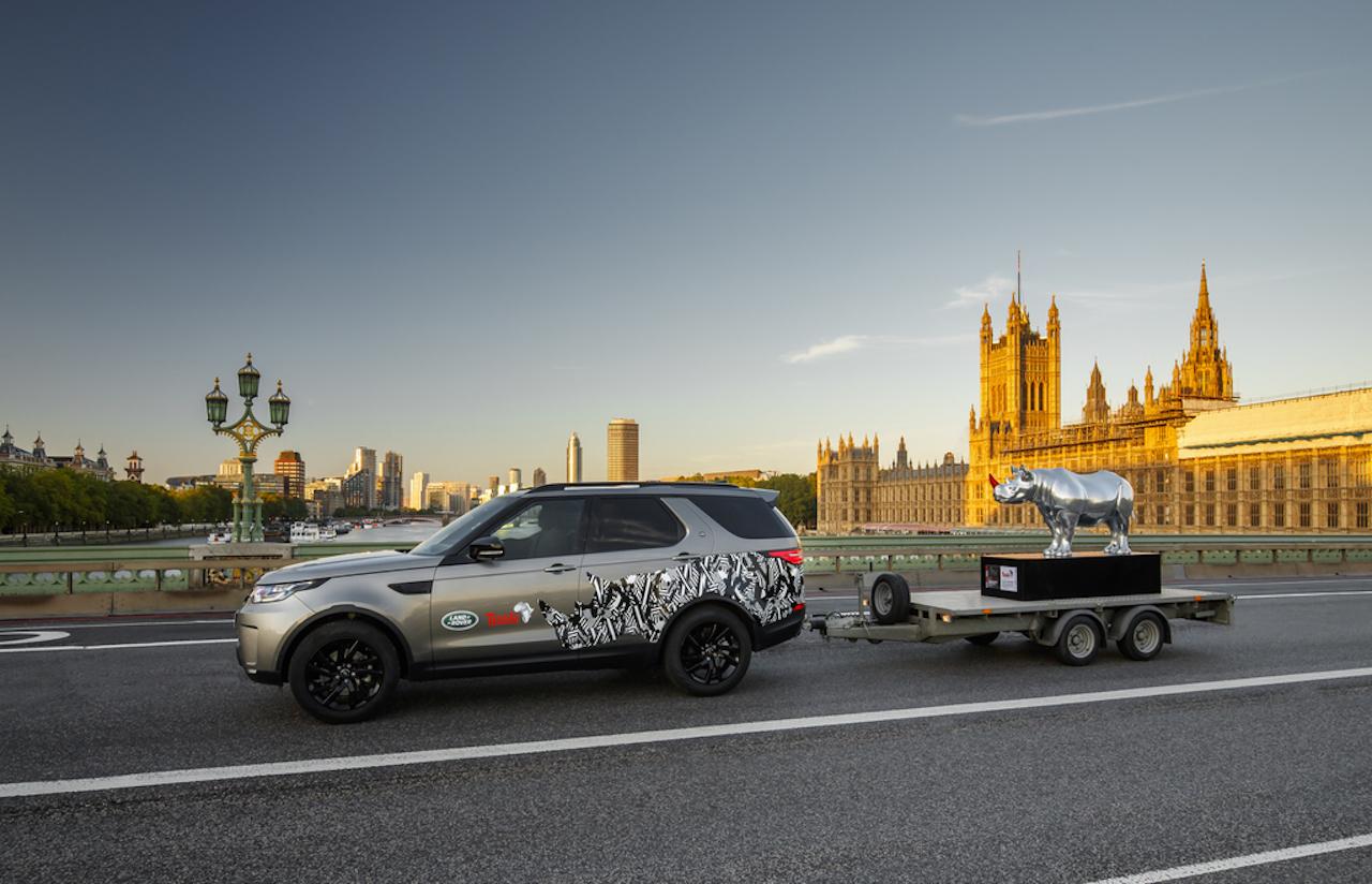 Listaverk Land Rover til verndar nashyrningum