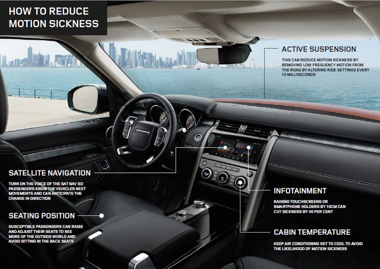 Jaguar Land Rover þróar tækni gegn bílveiki