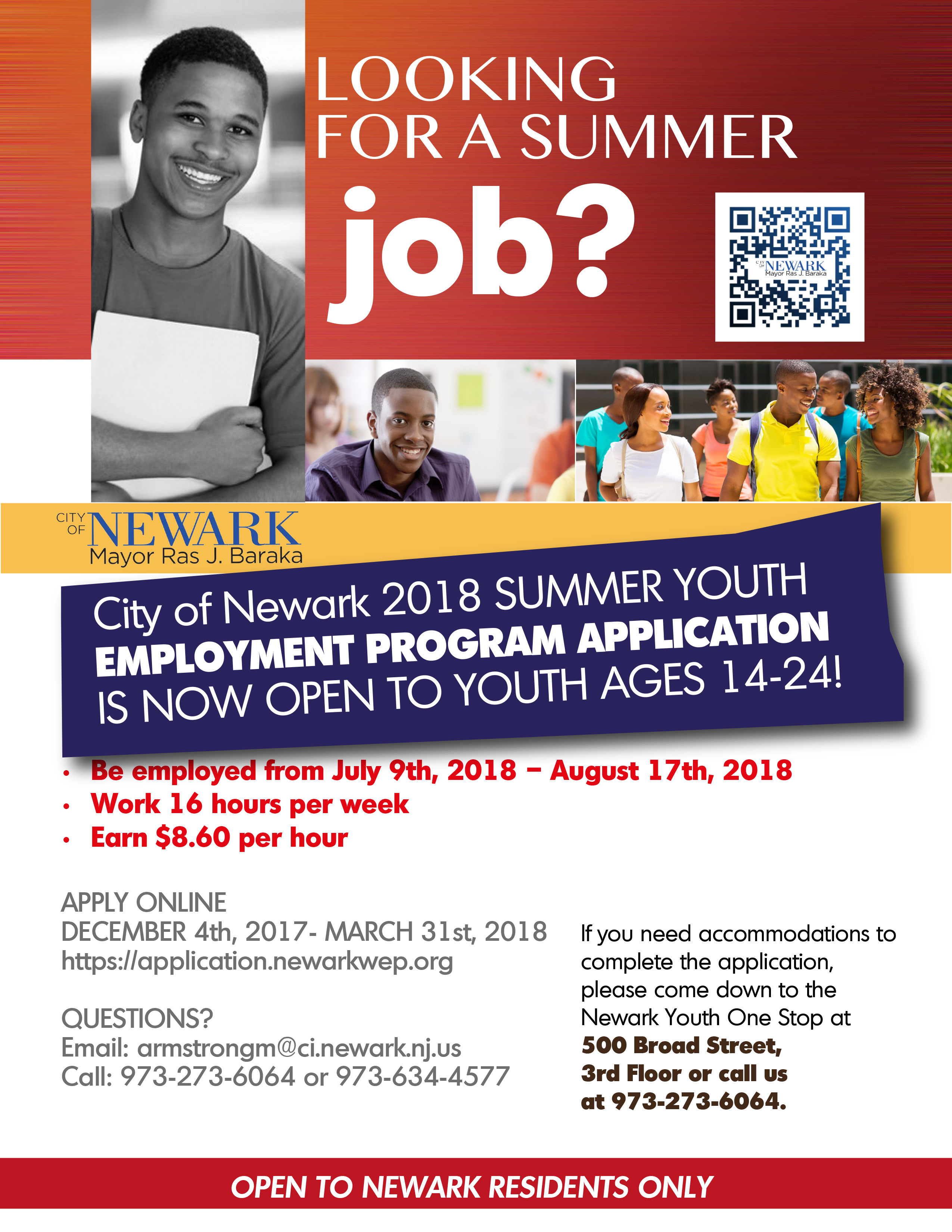 News: 2018 Summer Youth Employment Program Application