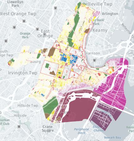 Map Of Newark Nj Department: Planning and Zoning