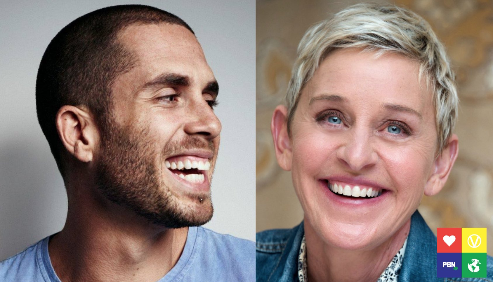 James Aspey and Ellen Degeneres