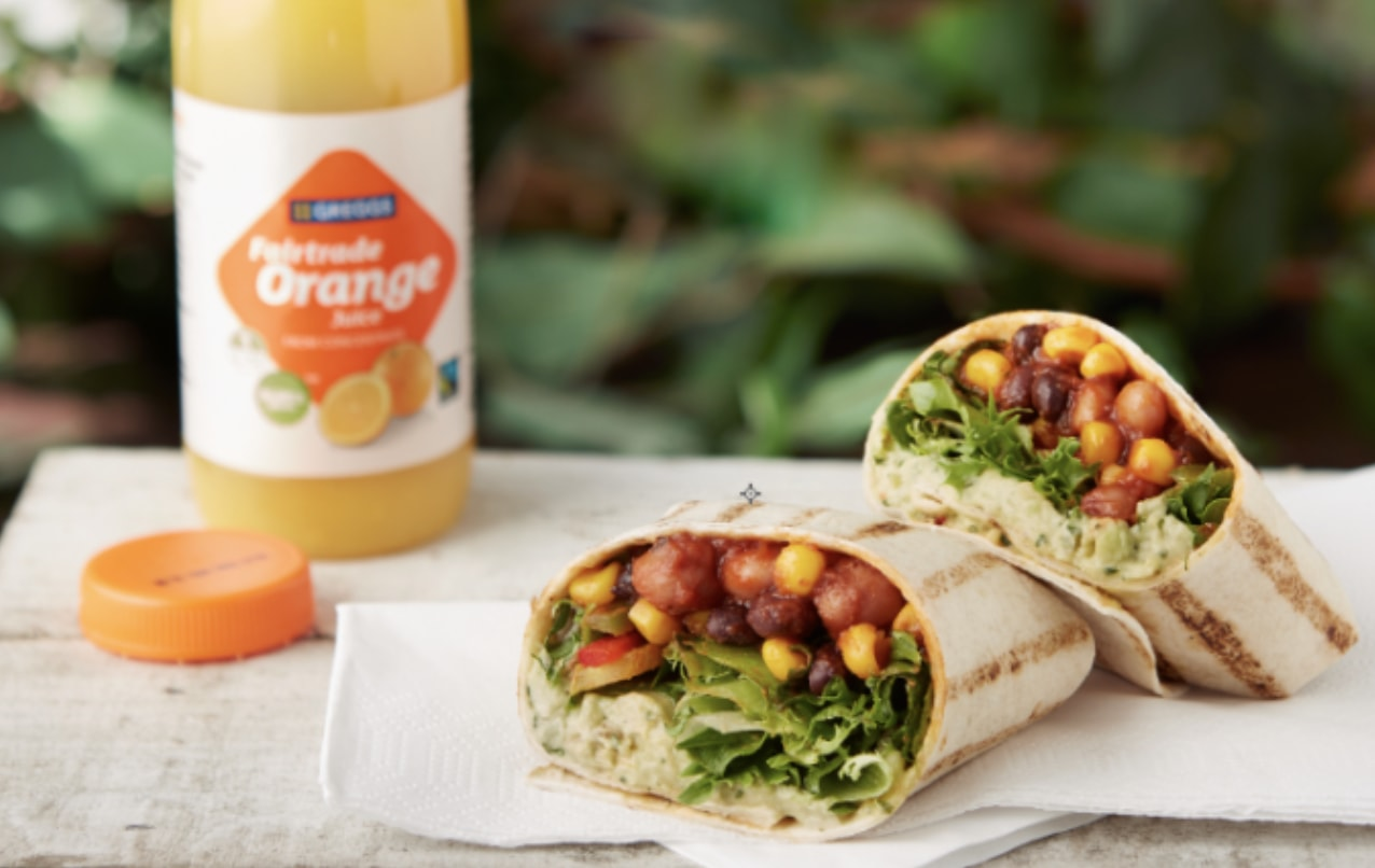 Vegan Mexican bean wrap from Greggs bakery chain