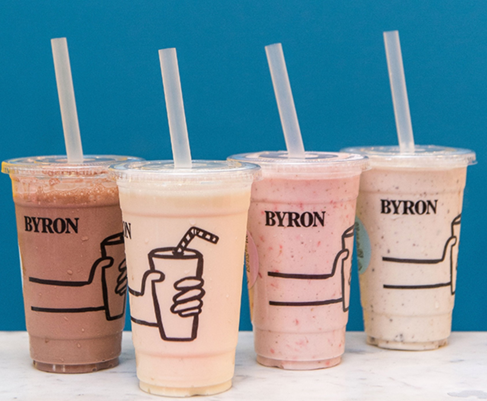 vegan milkshakes from Byron hamburgers
