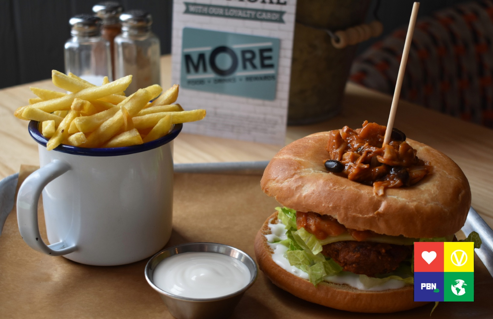 Vegan burger at common room pubs