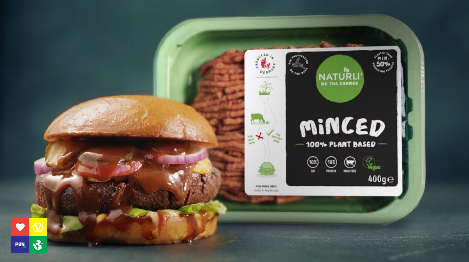 Vegan mince and burger from Naturli Foods
