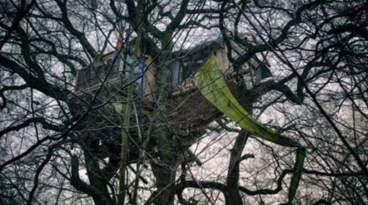 A treehouse in the Hambach forest