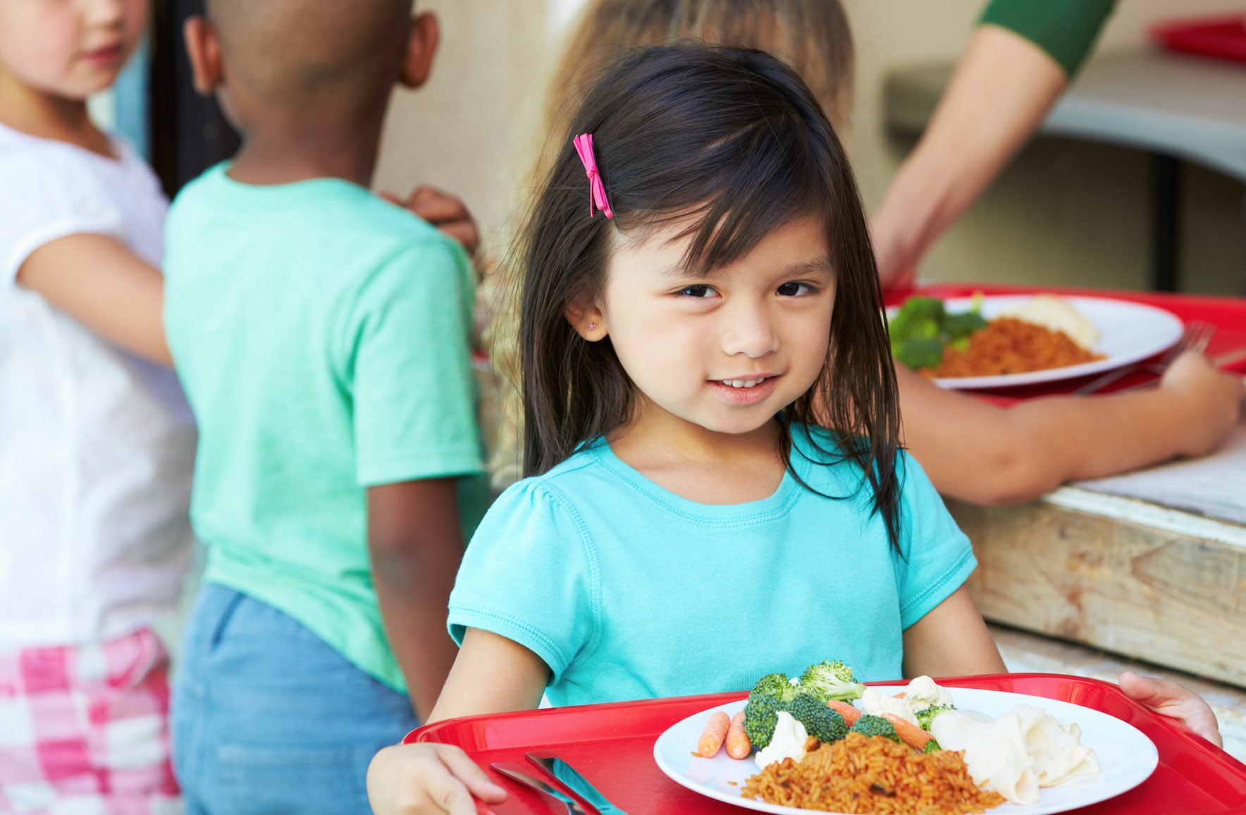 Kids With Meat Free Lunches