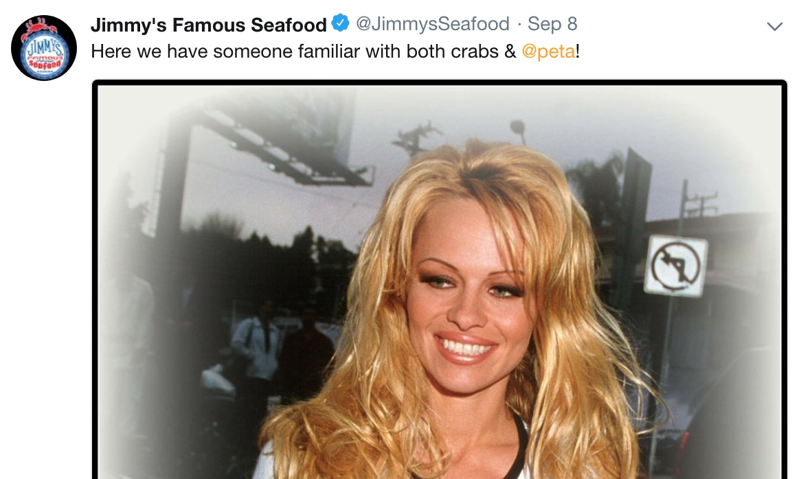 Jimmy's Famous Seafood Pamela Anderson Post